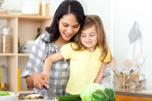 Mother and Child Cooking, Renee Naturally