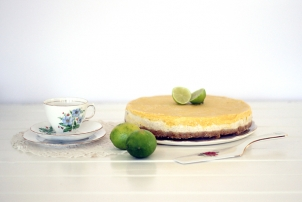 Macadamia Crusted Mango & Lime Raw 'Cheesecake', Renee Naturally