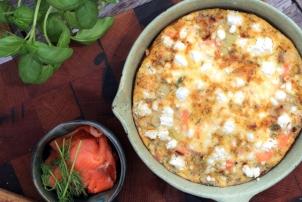 Smoked Salmon & Leek Omelette, Renee Naturally
