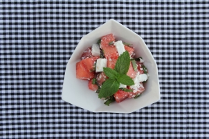 Watermelon, Goat Feta & Mint Salad, Renee Naturally