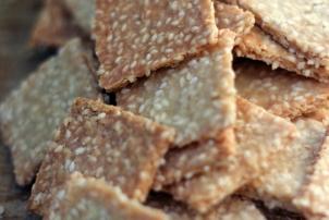 Sesame Almond Crackers, Renee Naturally