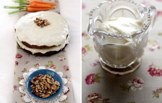 Carrot Cake with Soy Cream Cheese Icing, Renee Naturally
