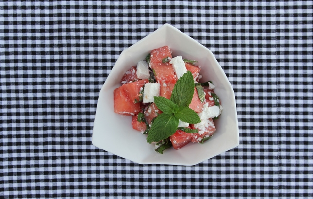 Watermelon, Goat Feta & Mint Salad, Renee Naturally