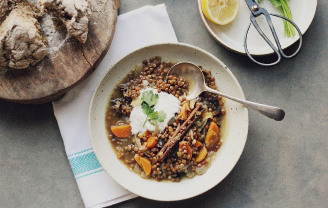 Fragrant Moroccan Vegan Lentil Soup // Recipe by Renee Naturally (Naturopath and Nutritionist)