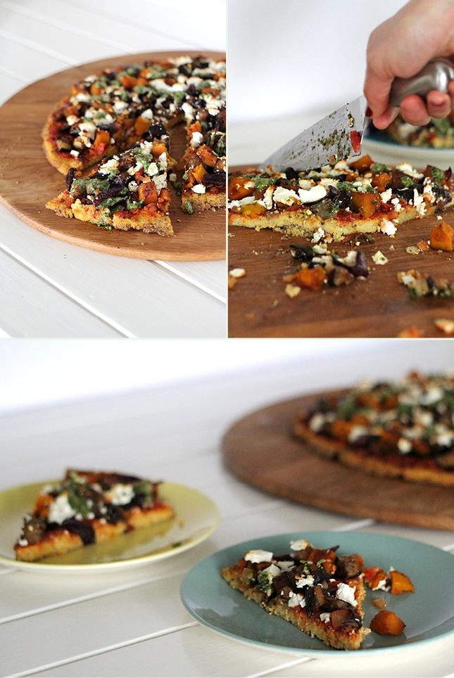 Polenta Pizza with Balsamic Veges & Kale Pesto | http ...